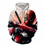 Marvel Deedpool Print Pull Over Hoodie Unisex Sweatshirt