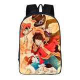 Anime ONE Piece 3D Print Polyester Backpack Youth  Students Bookbag
