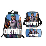 Fortnite Backpack Bookbags With Luch Bag Pencil Case 3PCS For Kids Teenagers