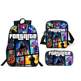 Fortnite Backpack With Luch Bag Pencil Case 3PCS For Kids Teenagers