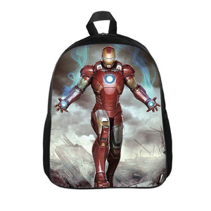 Marvel Kids Iron Man Print Backpack Polyester School Bag Bookbags