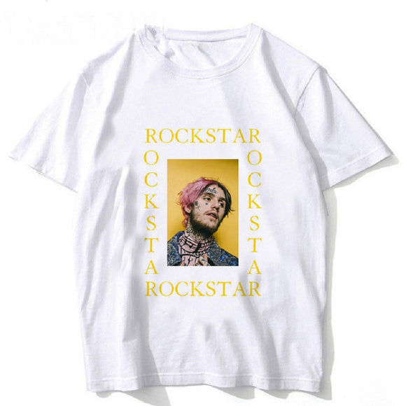 Rapper Lil Peep Fashion White Print Shirt
