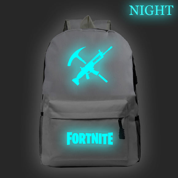 Fortnite Glow In The Dark Polyester Backpack Students Bookbag
