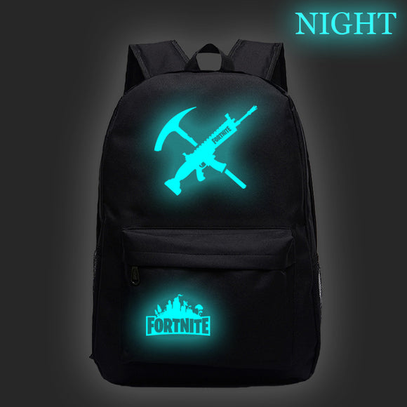 Fortnite Glow In The Dark Backpack Students Bookbag