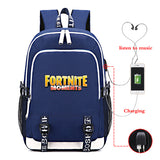 Fortnite Big Capacity Rucksack Youth Teenagers Polyester Backpack Computer Backpack With USB Charging Port