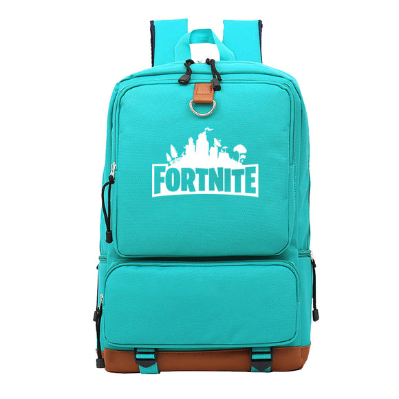 Fortnite Backpack Students Bookbag  Big Capacity Rucksack For Youth