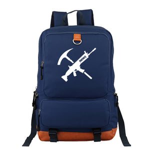 Fortnite Polyester Backpack Students Bookbag  Big Capacity Rucksack