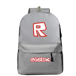Roblox Backpack for Students Boys Girls Polyester Schoolbag Roblox Print Travelbag Daybag Laptopbag