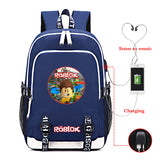 Roblox Large Capacity Roblox Print Backpack for School With USB Charging Port