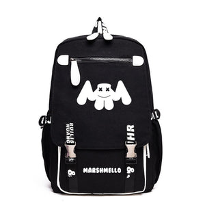 DJ Marshmello Backpack Luminous School Backpack Bookbags