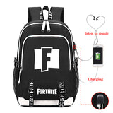 Fortnite Big Capacity Rucksack Youth Teenagers Backpack Computer Backpack With USB Charging Port