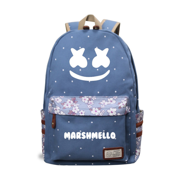 Marshmello Backpack Youth School Backpack Bookbags