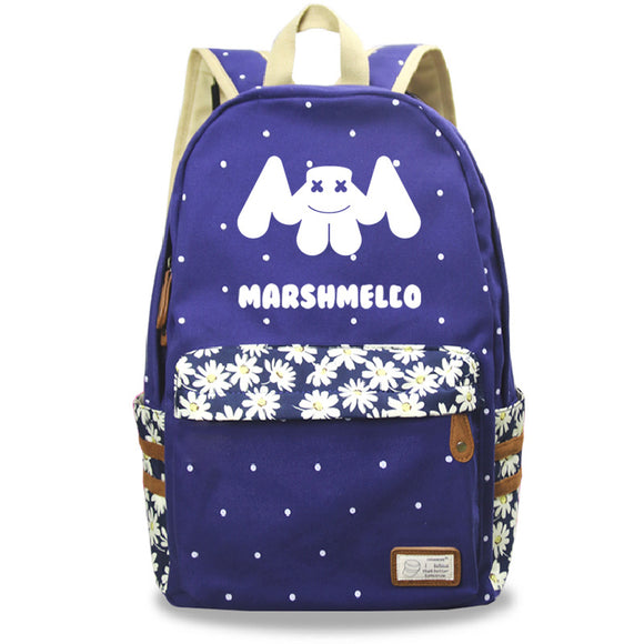 DJ Marshmello Backpack Youth Kids School Backpack Bookbags