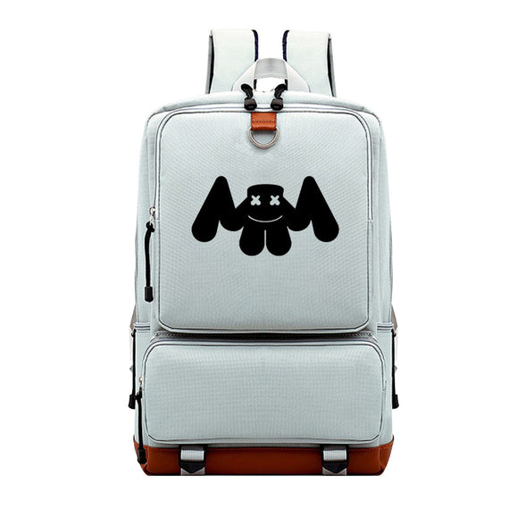 Canvas Marshmello Teens School Backpack  Bookbags