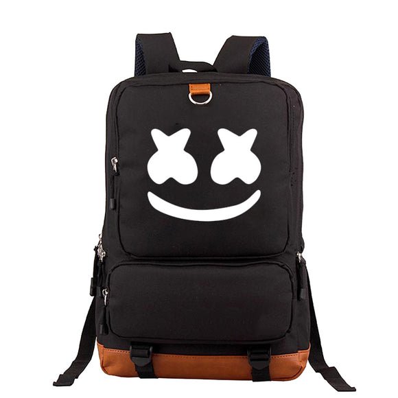 Big Capacity Marshmello Backpack Youth  TeensSchool Backpack Bookbags