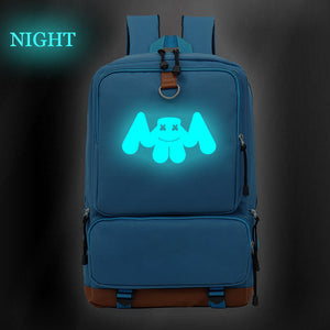Marshmello Luminous Smile Print Youth Backpack