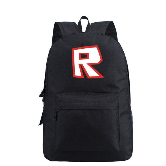 R Print Roblox Backpack for School Students Book Bag Daybag