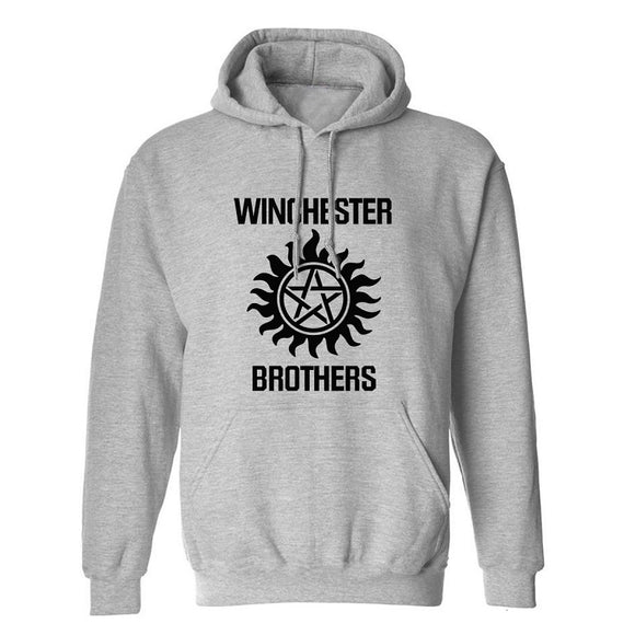 Supernatural Winchester Brothers Print Pull Over  Hoodies  Sweatshirts