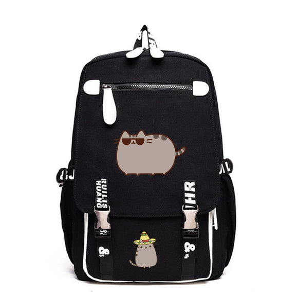 Pusheen Cat Backpack School Backack Bookbags Big Capacity Rucksuck