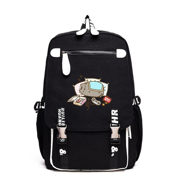 Pusheen Cat Backpack School Backack Big Capacity Rucksuck