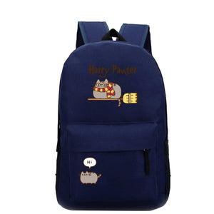 Pusheen Cat Backpack For Teenagers Girls Children Primary Students Polyester Backpacks