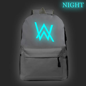 Alan Walker Youth Fashion School Backpack Glow In The Dark