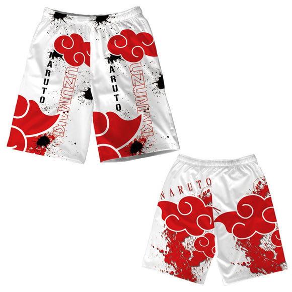 Anime Naruto Shorts Casual Pants Beach Shorts