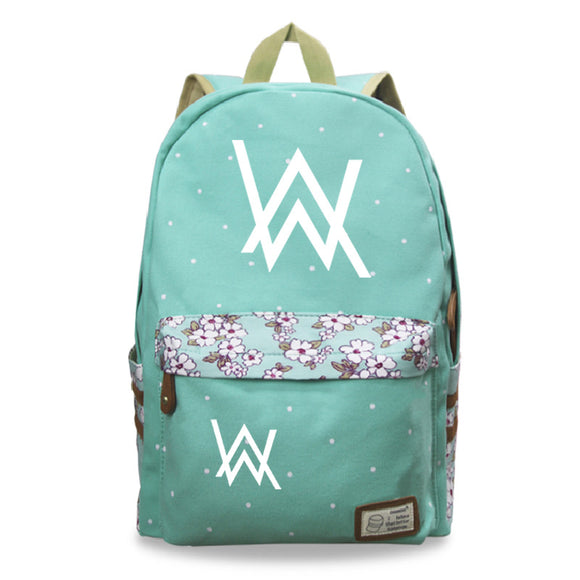 Alan Walker Teens Fashion School Backpack Book Bag