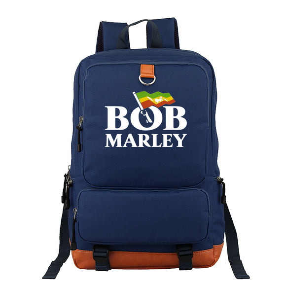 Bob Marley Youth School Backpack Polyester Computer Backpack
