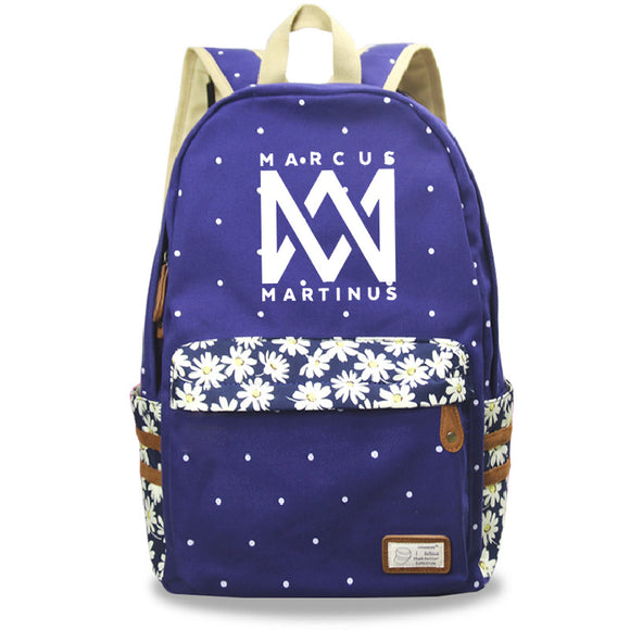 Marcus And Martinus Youth Fashion Canvas Backpack School Backpack