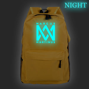 Marcus And Martinus Youth Backpack School Backpack Glow In The Dark