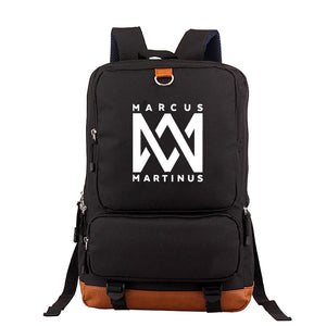Marcus And Martinus Youth Canvas Backpack Fashion School Backpack