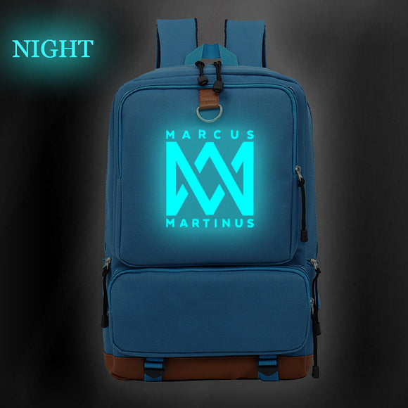 Marcus And Martinus Youth Canvas Backpack Fashion School Backpack Glow In The Dark