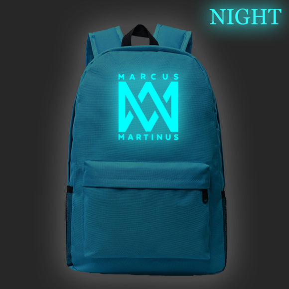 Marcus And Martinus Teens School Backpack Book Bag Glow In The Dark