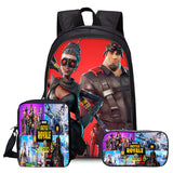 Fortnite 3D Print Full Print Polyester Backpack School Bookbag With Lunch Bag Pencial Case