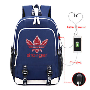 Stranger Things Big Capacity Backpack With USB Charge Port