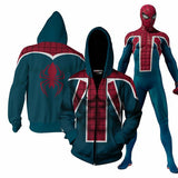 Into The Spider-Verse Miles Morales Zipper Hoodie Sweatshirt Jacket for Youth and Adults