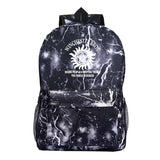 Supernatural Polyester Backpack Bookbags For Students Unisex Girls Boy School Bags
