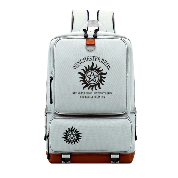 Supernatural Backpack Bookbags For Students Unisex Big Capacity Rucksuck