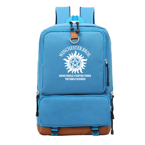 Supernatural Backpack For Students Unisex Big Capacity Rucksuck