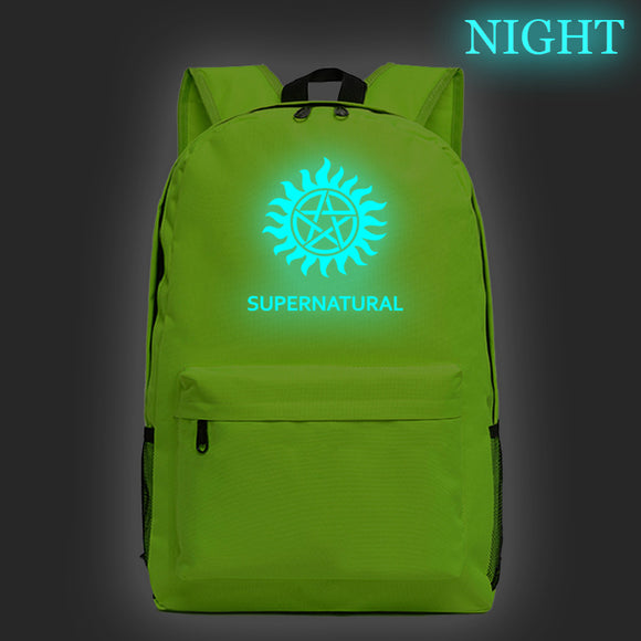Supernatural Demon Hunter Winchester Bros Sam Dean School Bags Bookbags