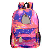 Pusheen Cat Backpack School Backack For Kids