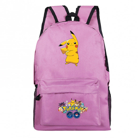Pokemon Go Students Backpack School Bag