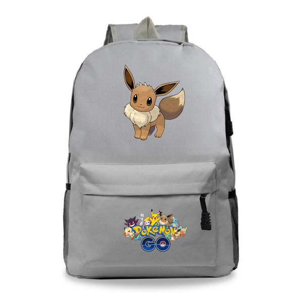 Pokemon Go Students Polyester Backpack School Bag
