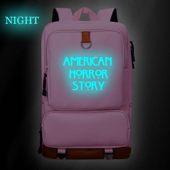 American Horror Story Backpack Big Capacity Rucksuck Glow In Dark