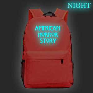 American Horror Story Students School Backpack Glow In The Dark