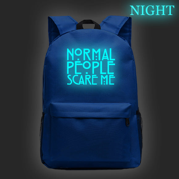 American Horror Story Students School Polyester Backpack Glow In The Dark