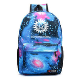 Supernatural Youth School Polyester Backpack Bookbags