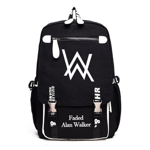 Alan Walker Youth Fashion School Backpack Big Volume Travel Bag