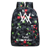 Alan Walker Teens Youth Faded Alan Walker Print School Backpack Fashion Daily Backpack